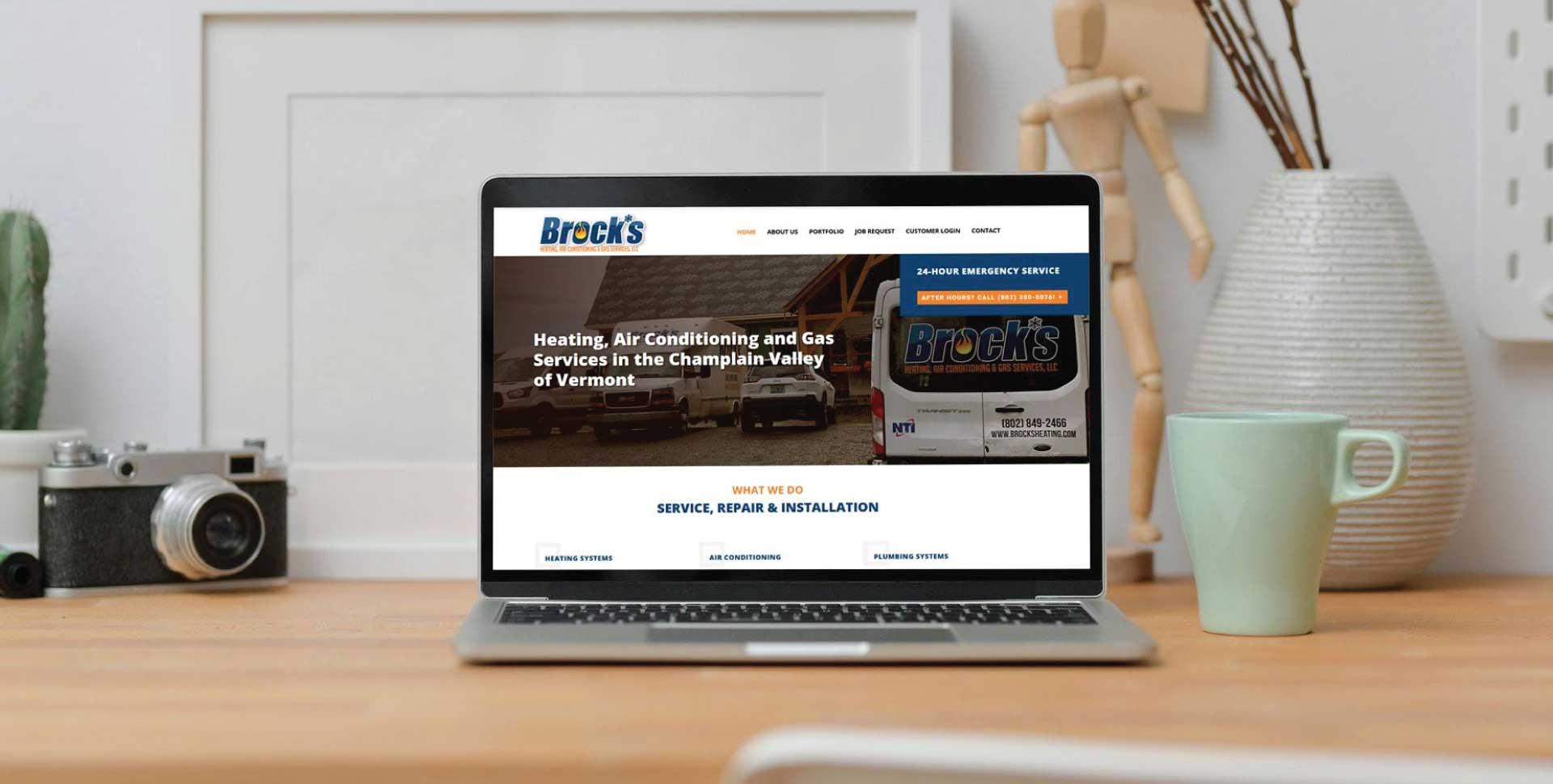 Brock's Heating Website Design